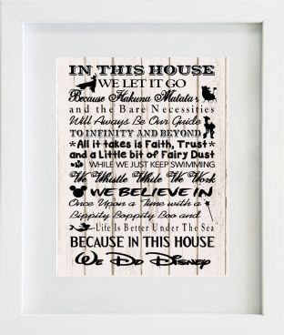 In this house Disney Print Design 1